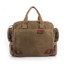 New Men's Handbags Canvas Shoulder Bags multi-function Men Crossbody Bag men messenger bags