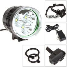 SecurityIng 1500Lm Bike Headlight 3x LB-XL T6 LED Bicycle Light Headlamp with 4400mAh Battery Pack + Charger цена