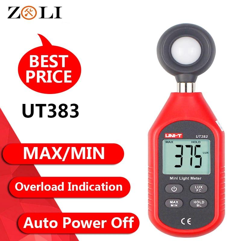 Digital Light Meter Lux Meter Luminance  Illuminometer Fc Test Max. 200,000 LUX Min Photometer UNI-T UT383