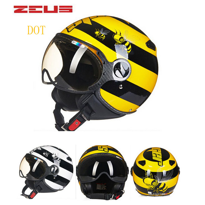 DOT ZEUS ZS-210c DOG 3/4 open face motorcycle helmet with Lining unpick and wash, motorbike helmets 2017 new yohe open face motorcycle helmet yh936 knight safety undrape face motorbike helmets made of abs and pc visor lens