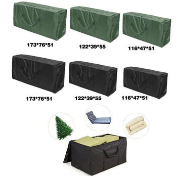 Outdoor Patio Furniture Chaise Christmas Tree Waterproof Protect Cover Polyester Storage Bag Multi-Function StorageCushion S M L image