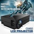 Conveniente Bolso GM60 Projetor LCD 800x480 Pixels 1080 P HD tela de Projeção para Home Theater Cinema Embutido de Alta Fidelidade falante