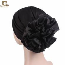 NEW Women King Flower Turban Cap Chemo Beanie For Hair Loss Muslim Scarf Hijab Islamic Turbante