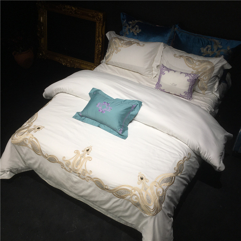2018 Luxury Wedding Bedding Sets Supima Cotton Retro Palace Embroidery Bed  Linen Duvet Cover Bed Sheet Drap De Lit Bedclothes In Bedding Sets From  Home ...