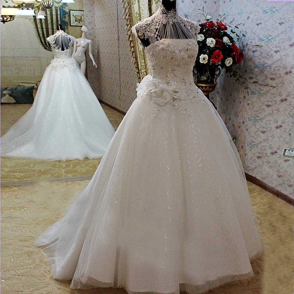 Luxurious High Quality Real Photos Hand-made Ball Appliques Beads Bridal Gown With Full Sequins Mother Of The Bride Dresses