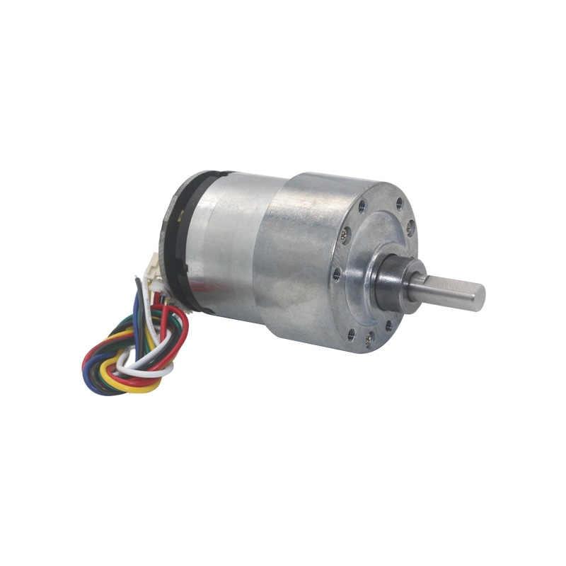 """אקסצנטרי פיר 37mm קוטר גיר מנועים 12 V 24 V 7 סל""""ד-1590 סל""""ד DC Gear מנוע עם 2 שלבי אות משוב מקודד 11 פולסים/T"""