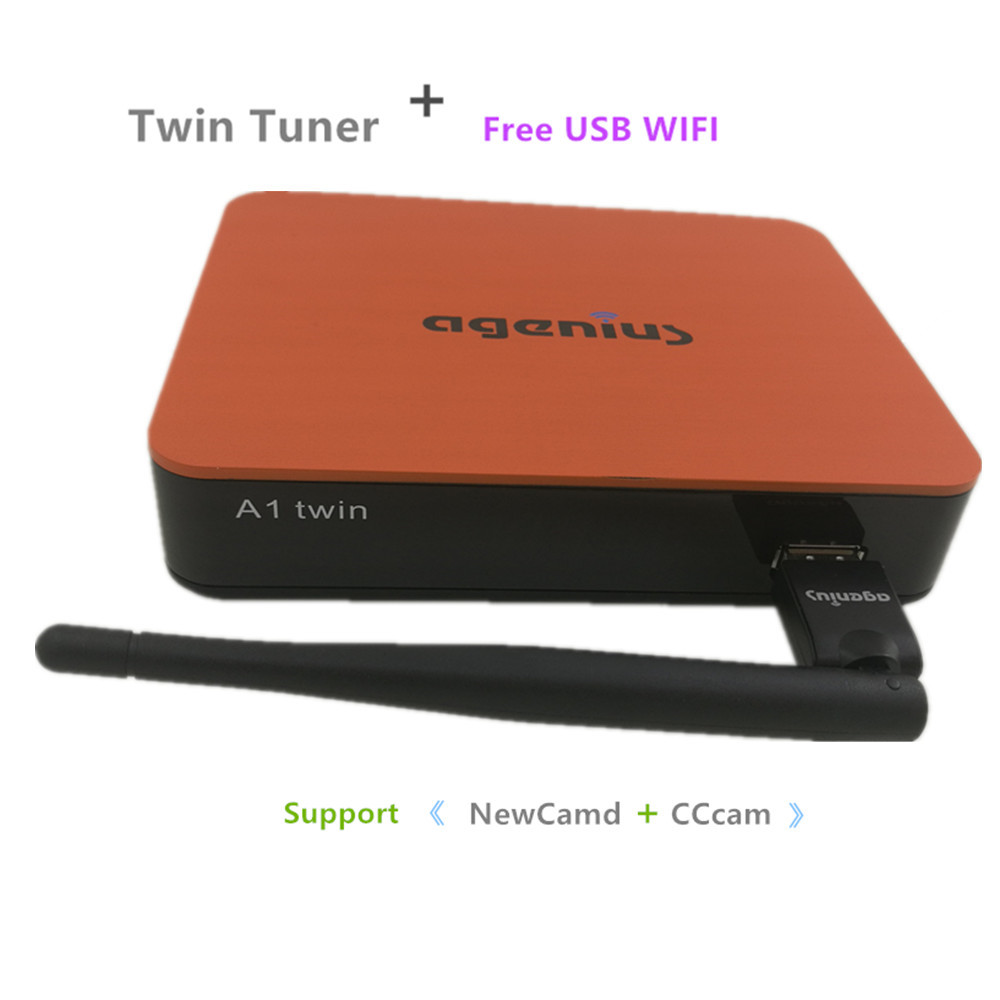 Agcnius New Model DVB S2 With Double Tuner Wifi Usb H 265 Newcamd Cccam Support