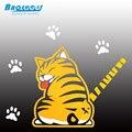 Moda 2016 NUEVAS Ventas Calientes de Dibujos Animados Divertido Gato Moviendo La Cola Pegatinas Reflexivas Del Coche Limpiaparabrisas Calcomanías car styling accesorios