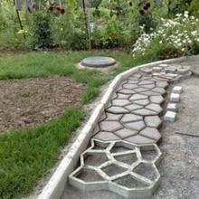 1 шт. DIY Пластиковые траектории сделать форму вручную тротуарной/формы для цементных кирпичей патио бетонных плит путь садовые украшения подъездной дорожки