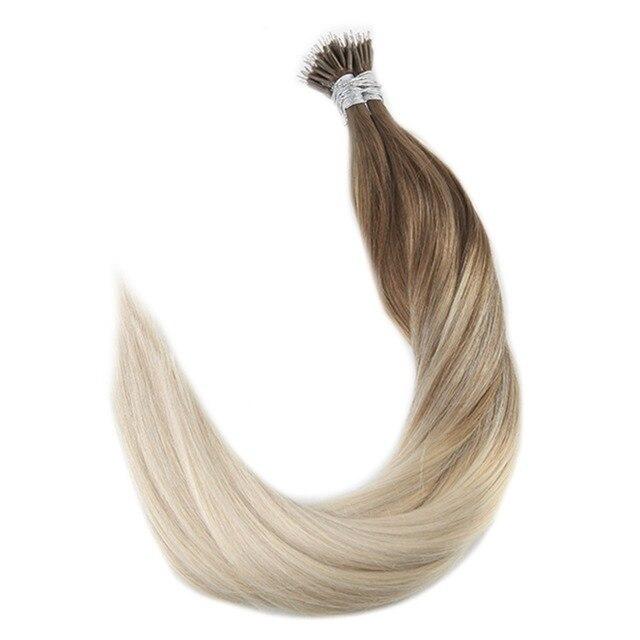 Full Shine 08gstrand Remy Balayage Hair Extensions Nano Ring