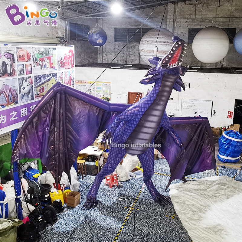 Custom made 6x4x6.3 meters giant inflatable dragon / inflatable flying dragon for decoration toys