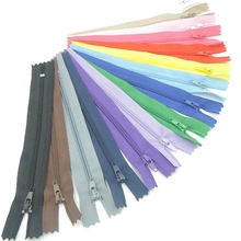 100 pcs 15/20/25/30cm Multi Color Nylon Coil Zippers Tailor Sewing Tools Garment Accessories