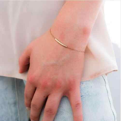 S 160 Geometry U pulsera 2017 nueva moda verano joyería U tubo oro cadena pulsera OL temperamento Mujer Accesorios de joyería ¿