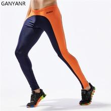 GANYANR Running Tights Men Yoga Basketball Gym Leggings Sport Fitness Athletic Skins Jogging Long Training Compression Pants цена и фото