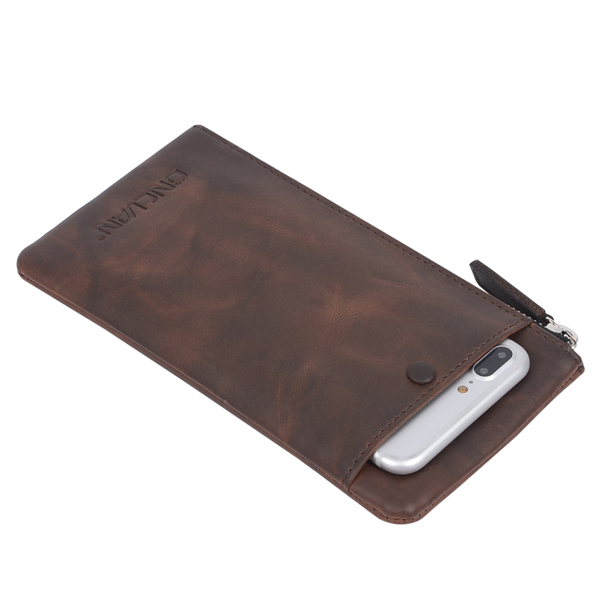 Split Leather Wallets Vintage Style Mens Wallets Handmade Purse Coffee Color Leather Women Wallets Accept Customized Wholesale