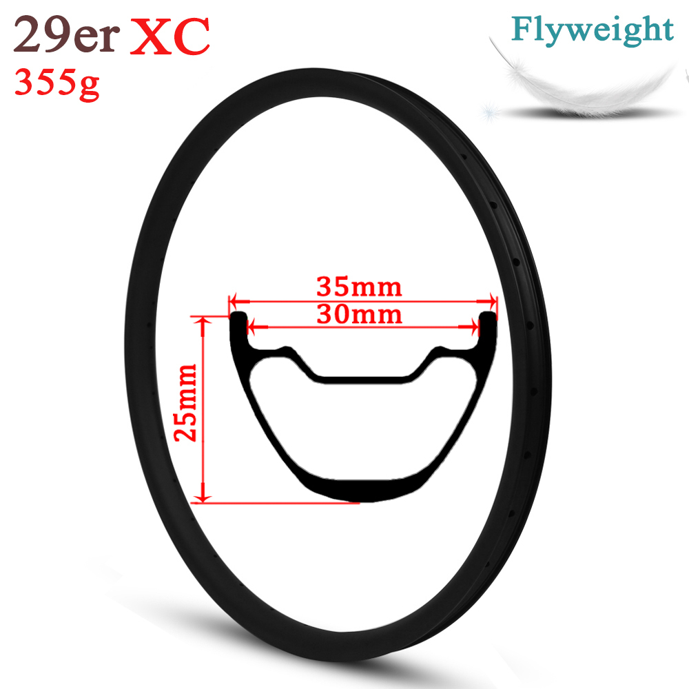 355g Only 29er MTB Carbon Rim 35mm Width Tubeless Ready Hookless Style For XC Wheel Cross Country Mountain Bike Wheelset355g Only 29er MTB Carbon Rim 35mm Width Tubeless Ready Hookless Style For XC Wheel Cross Country Mountain Bike Wheelset