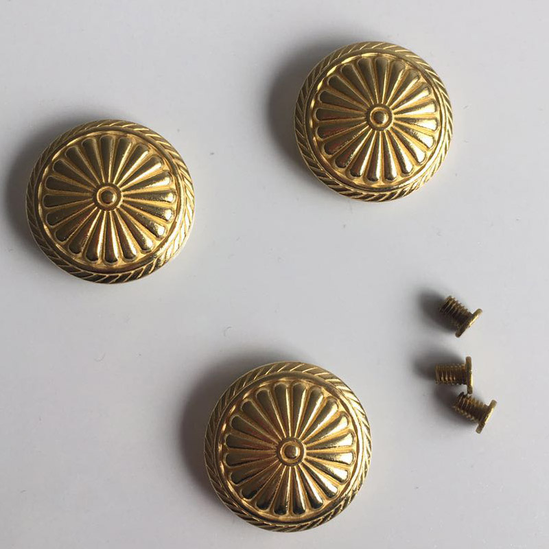 2018 New Wholesale DIY Copper Metal Accessories Gold Rivet With Screw Furniture Hardware GRT-10 50pcs 100% copper die casting 11 9mm round head rivet screw for bags hardware high quality rivets accessories