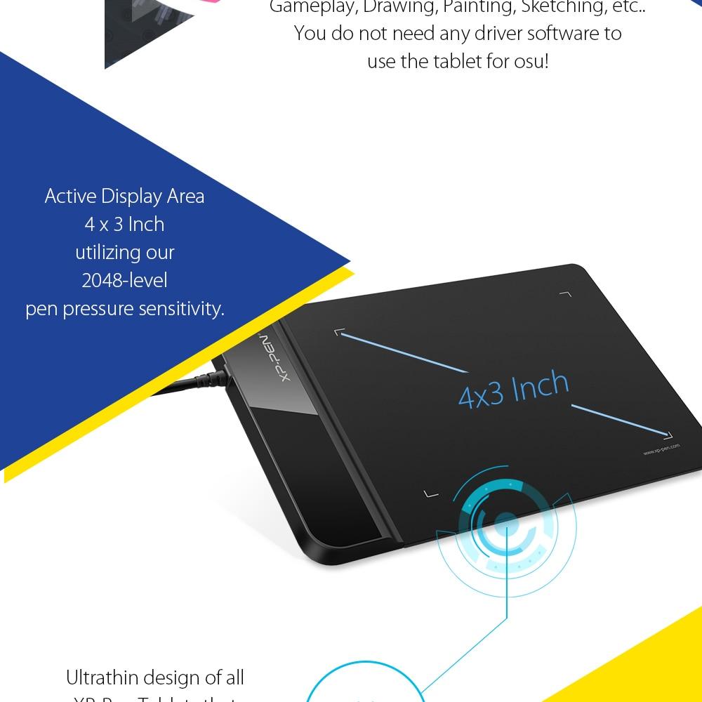 O xp caneta g430s 4x3 polegada ultrafinos tablet grfico desenho 430a 430b 430c 430d 430f ccuart Image collections