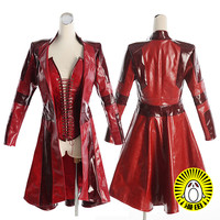 7cf40791fbec AVENGERS Scarlet Witch Wanda Cosplay Costume Red Jacket Custom Made