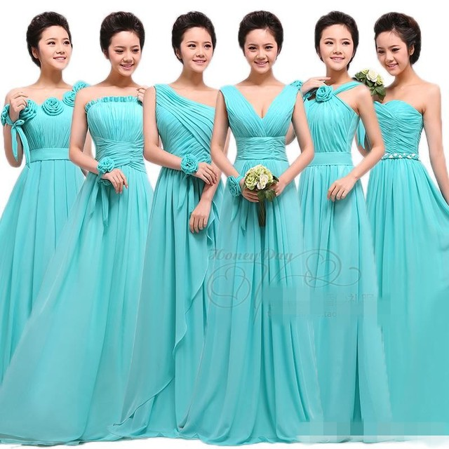 Diffe Type Of Brought Bridesmaid Dress Floor Length Sleeveless Fresh Color A Line Party Dresses Off