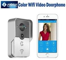 2015 Hot Sale WIFI de vídeo portero automático Color Video de la puerta teléfono de ayuda iOS Android App Wilress sistema de intercomunicación timbre Video