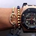 Qualidade pulseira allah muçulmano, micro pave cz grânulos de charme conector allah muçulmano com banhado a ouro trança macrame contas pulseiras