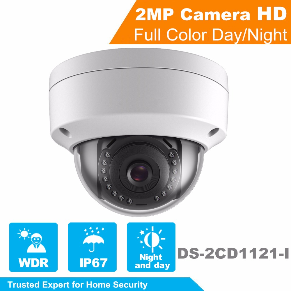 In Stock Hikvision 1080P Security IP Camera OEM 2MP CMOS PoE IP Camera outdoor DS-2CD1121-I with DWDR IP 67 No SD card Slot hikvision ds 2de7230iw ae english version 2mp 1080p ip camera ptz camera 4 3mm 129mm 30x zoom support ezviz ip66 outdoor poe