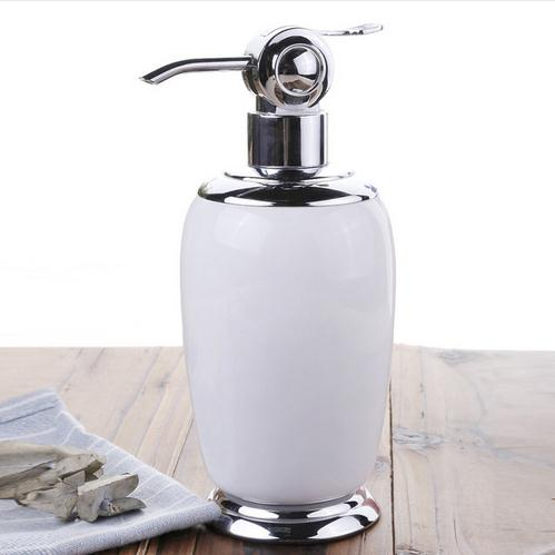 Fashion parrot ceramic hand sanitizer bottle emulsion shower gel bottle white bathroom shampoo