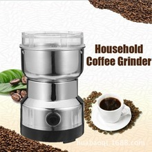 Electric Coffee Grinder 220V Stainless Steel Grinding Bean Milling Machine Home Office Multi-use