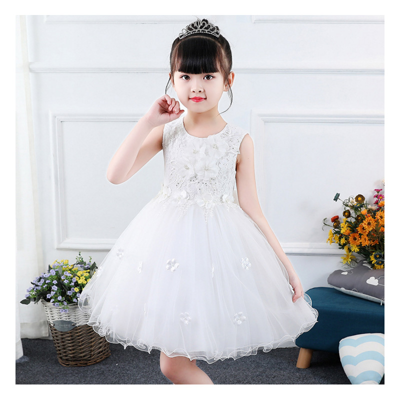 it's YiiYa Communion   Dress   Tulle Sequins Appliquie Lace   Flower     Girl     Dresses   for Wedding and Kid Party Back Bowknot 2019 BXS05