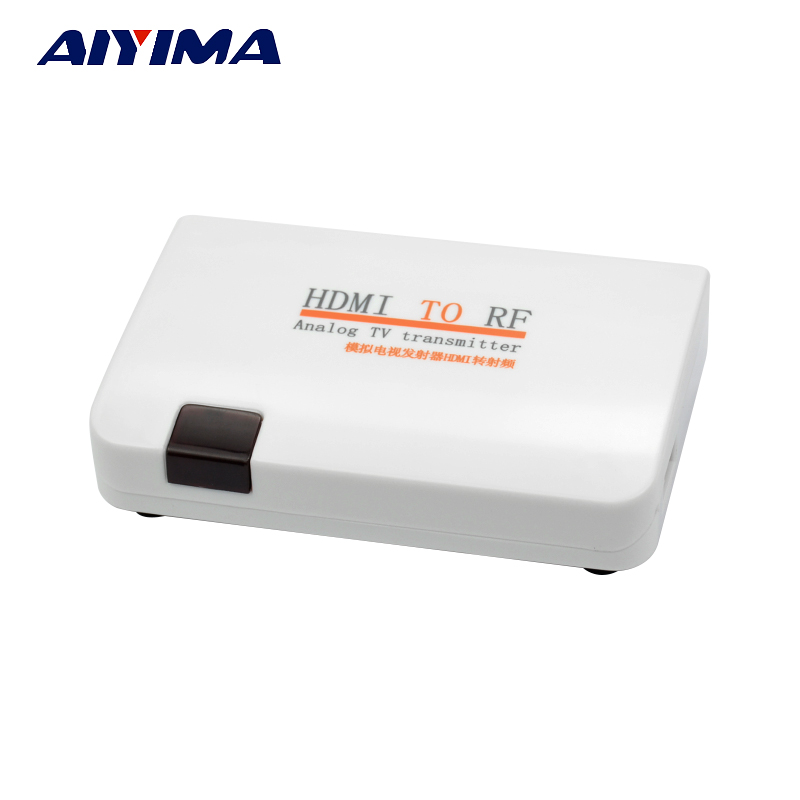 AIYIMA Transmitter HDMI To RF HDMI To Radio Frequency Signal HDMI TO High-definition Signal Modulator ad8314 module 45db rf detector controller 100mhz 2 7ghz radio frequency signal measurement