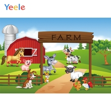 Yeele Rural Farm Animals Personalized Birthday Party Poster Kid Photographic Backdrops Photography Backgrounds For Photo Studio