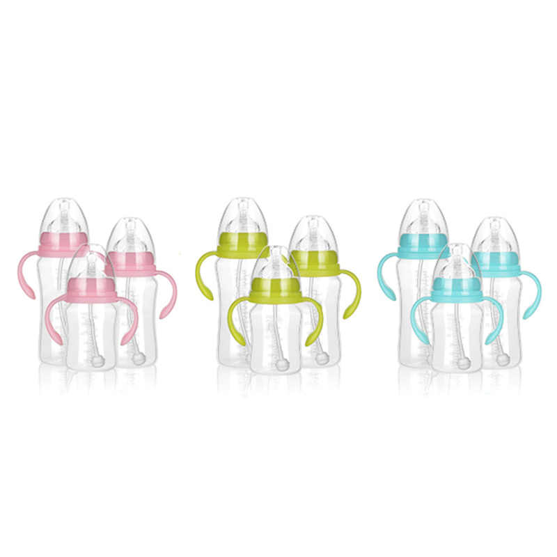 300 มิลลิลิตร 240 มิลลิลิตร 180 มิลลิลิตรเด็กทารก PP BPA ฟรีขวดนม Anti - Slip Handle & ถ้วยน้ำขวด