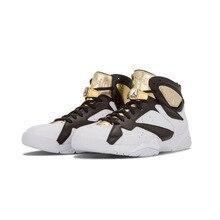 "Original New Arrival Authentic NIKE Air Jordan 7 Retro C&C ""Champagne"" Mens Basketball Shoes Sneakers Sport Outdoor"