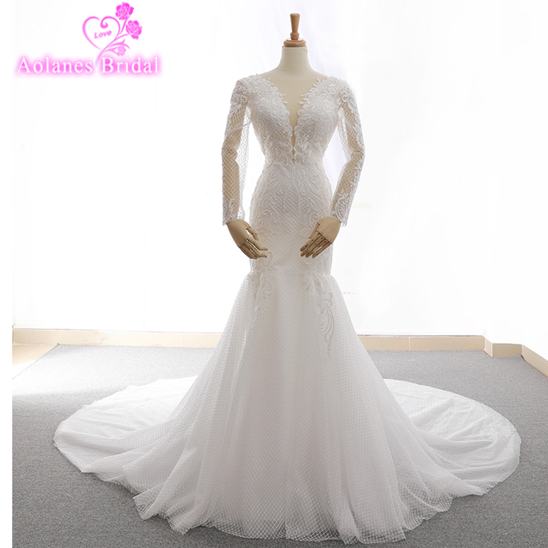 Trumpet Wedding Gowns With Sleeves: Aliexpress.com : Buy 2018 Custom Made Sexy Charming