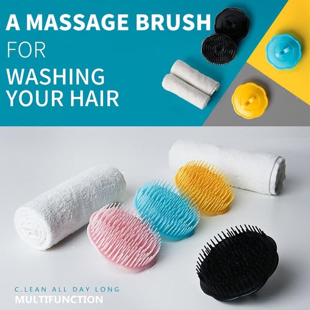 1 pcs Shampoo Spazzola Da Bagno Scrubber Massaggio Prurito Forfora Pettine Asciu