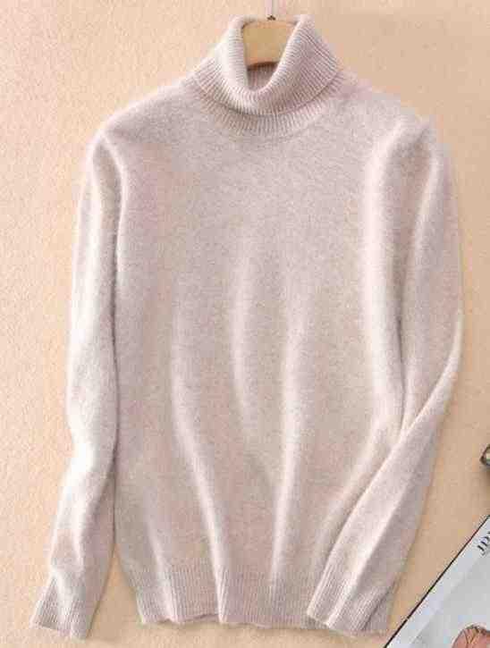 2019 Marten Beludru Bulu Sweater Pullover Turtleneck Pendek Slim Desain Dasar Rajutan Women 'S Sweater Kasmir
