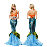 Luxurious Latest 2016 Sexy Shiny Mermaid Costume Sets Halloween Bars Singer Stage Performance Clothing Wholesale And Retail