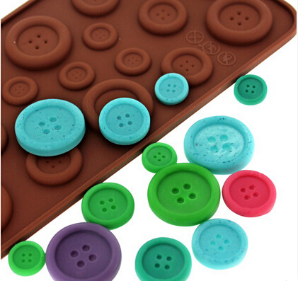 19-hole Buttons Shaped Silicone Mold Chocolate Jelly Pudding Mold <font><b>Bakery</b></font> Mold Cupcake A050