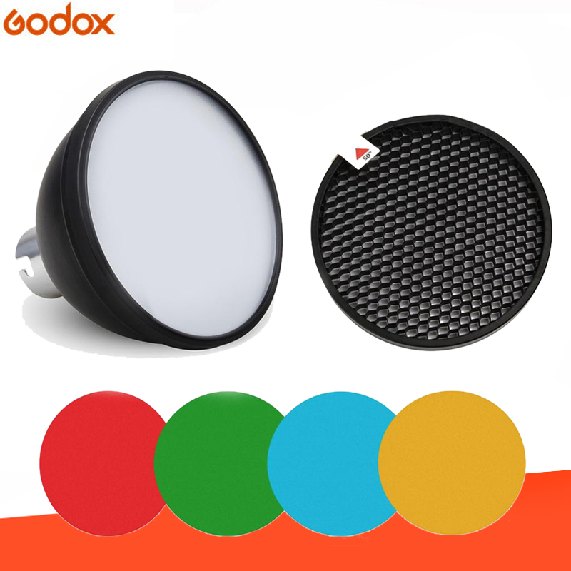Godox AD S11 Color Gels Filter Honeycomb Grid  AD S2 Standard  Reflector Soft Diffuser for Witstro AD 360 II AD360II AD180 AD200Photo  Studio Accessories
