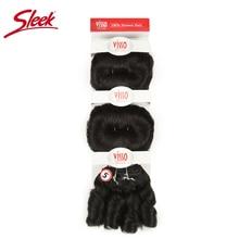 Şık Ombre saç demetleri anlaşma doğal renk kahverengi 2 brezilyalı insan saçı örgüsü Glam kısa 3 adet kıvırcık Remy insan saçı postiş