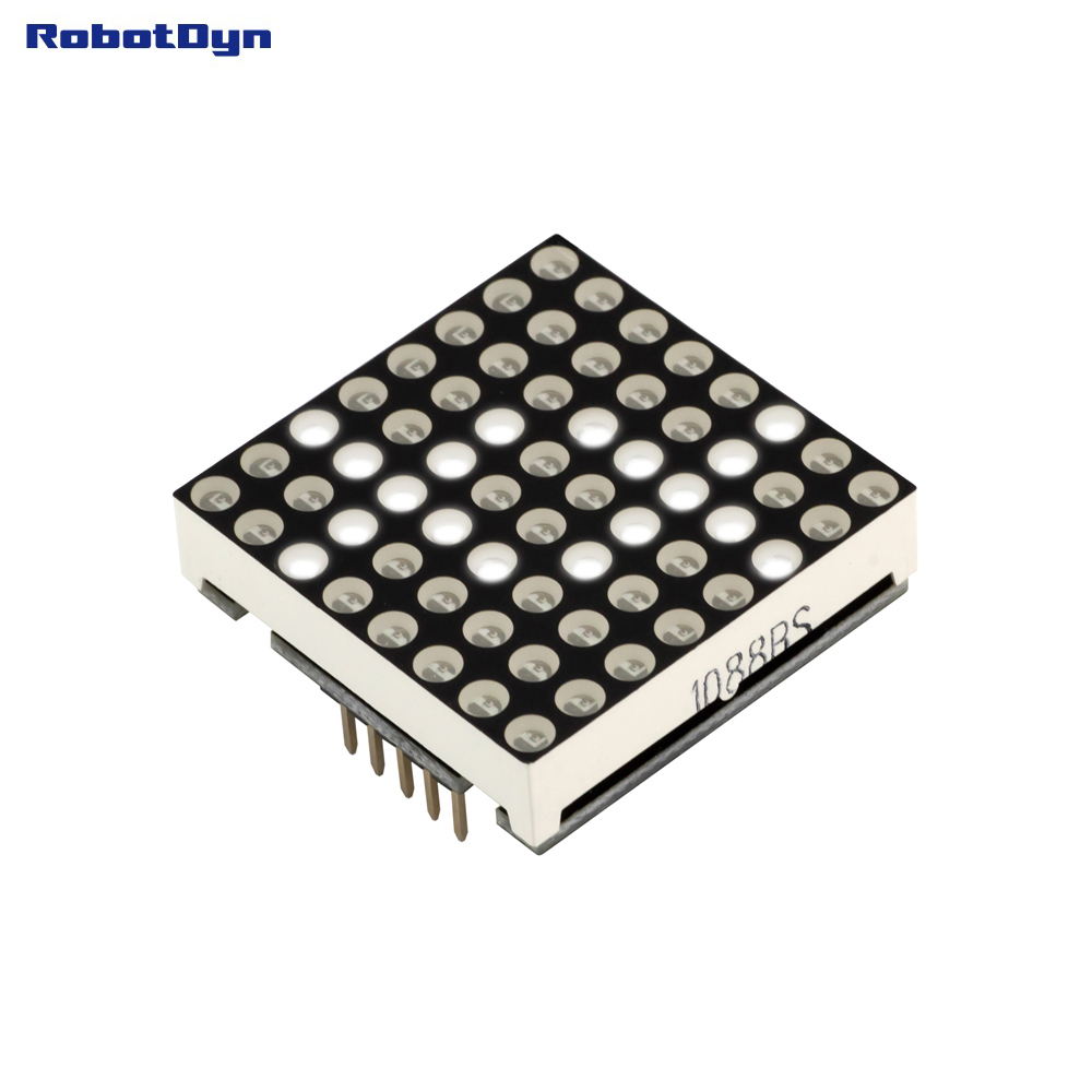 Matrix LED 8x8 module. WHITE color. 1.2 32x32mm. Driver - MAX7219/7221 ...