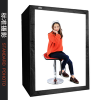 DEEP LED Professional Portable Softbox Box 120 * 80*160cm LED Photo Studio Video Lighting Tent with LED Light160CM CD50
