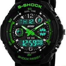 Reloj de los hombres del Reloj Del Deporte Dual Time Zones Cronógrafo Calendario