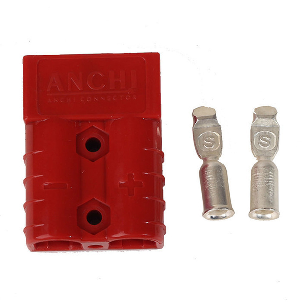 2pcs Battery Quick Connector 50A 8AWG Plug Connect Disconnect Winch Trailer Red
