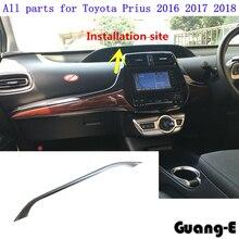 Rilevatore di alta Qualità guarnire trim ABS dashboard Instrument meter Pannello del contatore telaio cappe 1 pz per Toyota Prius 2016 2017 2018