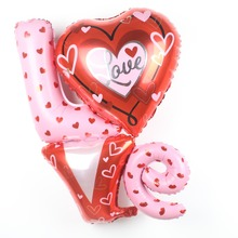 Large Size Love Letter Shaped Foil Balloons Wedding font b Decoration b font Balloons font b