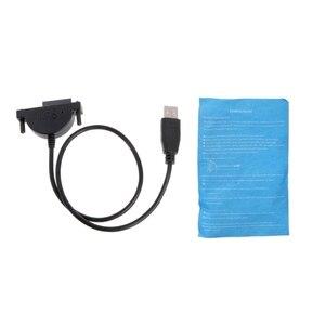 Image 2 - Yeni harici USB SATA 13Pin (7 + 6) dizüstü bilgisayar DVD CD ROM optik sürücü adaptör kablosu