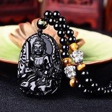Black Jade Kuan Yin Pendant