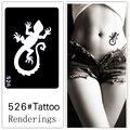 Desechables tatuaje plantilla, desmontable, la creación artística, de moda, de la piel disponibles, tatuajes, Animal, gecko526